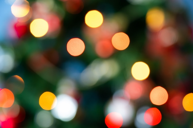 Achtergrond van onscherp kerstmislicht