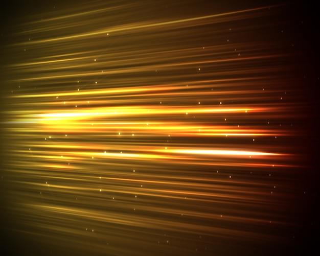 Achtergrond van oranje lijnen en punten