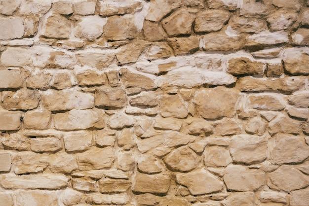 Achtergrond van oude en verweerde stenen muur.