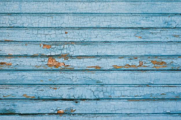 Achtergrond van oude houten planken geschilderd in blauwe kleur