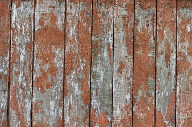 Achtergrond van oude houten planken geschilderd in oranje kleur