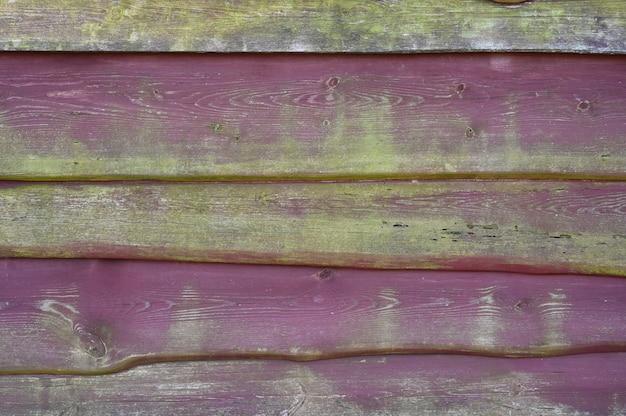 Achtergrond van oude houten planken geschilderd rood groen