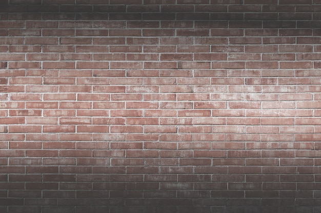 Achtergrond van oude vintage bakstenen muur, decoratieve donkere bakstenen muur oppervlak voor achtergrond