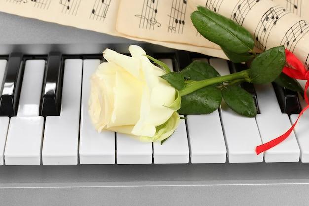 Achtergrond van pianotoetsenbord