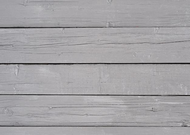 Achtergrond van planken geschilderd met grijze verf, oud, textuur met scheuren, lege horizontale compositie, houtstructuur met natuurlijk patroon