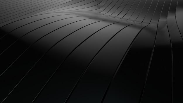 Achtergrond van rijen veelkleurige pop-up zwarte strepen