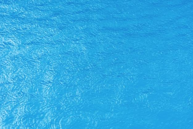 Achtergrond van schoon blauw gegolft water in een hotel zwembad