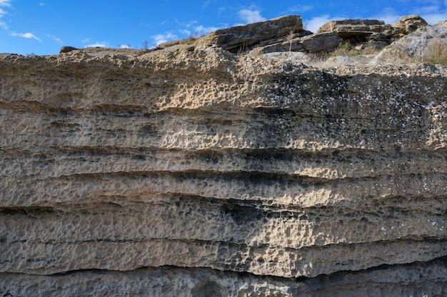 Achtergrond van sedimentaire gesteentelagen