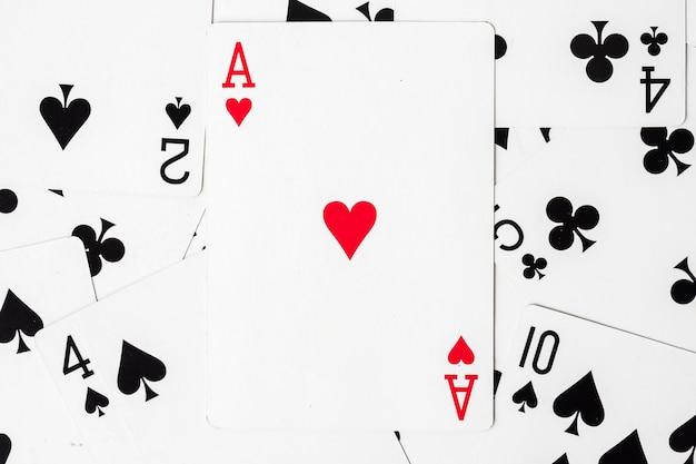 Achtergrond van speelkaarten.