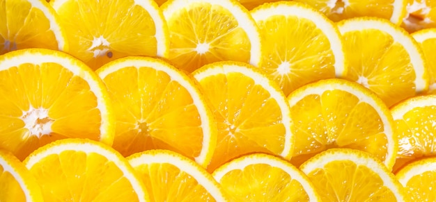 Achtergrond van stukjes sinaasappel