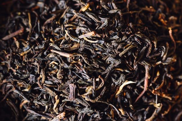 Achtergrond van theebladen