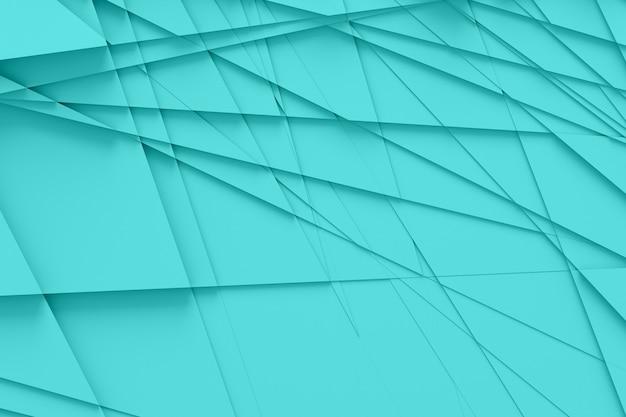 Achtergrond van veel gebarsten driedimensionale vormen op verschillende hoogtes van elkaar en werpen een schaduw 3d-illustratie