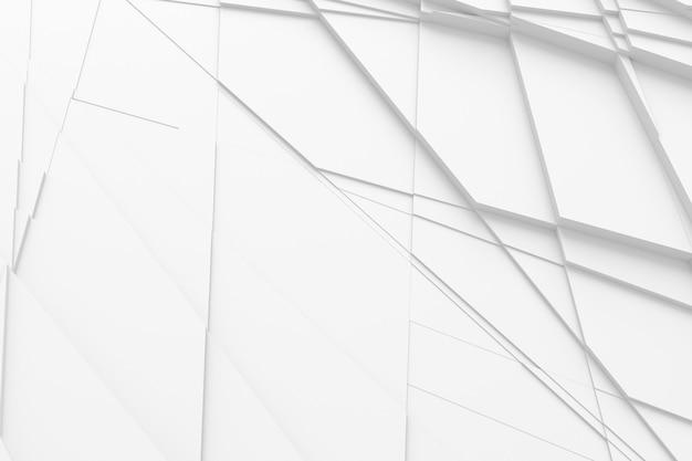 Achtergrond van veel gebarsten driedimensionale vormen op verschillende hoogtes van elkaar
