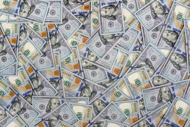 Achtergrond van vele amerikaanse honderd dollar biljetten