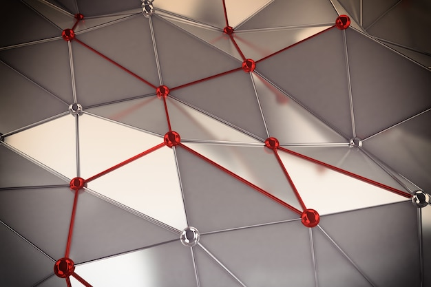 Achtergrond van verbindingsbollen met elkaar verbonden