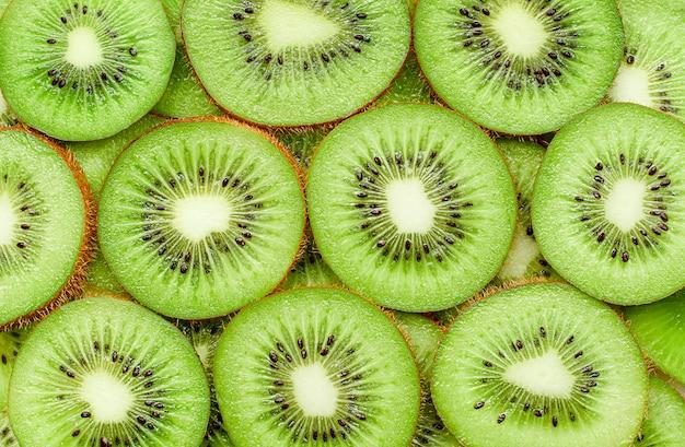 Achtergrond van vers gesneden kiwifruit