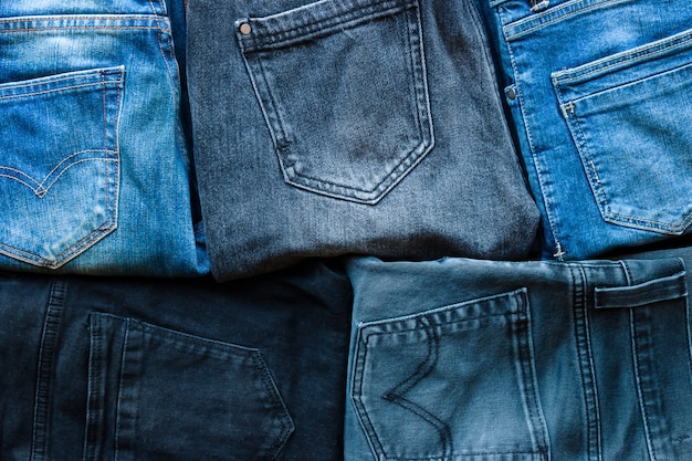 Achtergrond van verschillende jeans