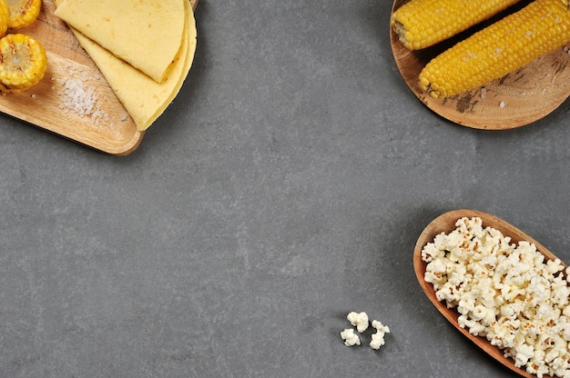 Achtergrond van verschillende soorten maïs