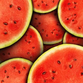 Achtergrond van verse rijpe watermeloenplakken