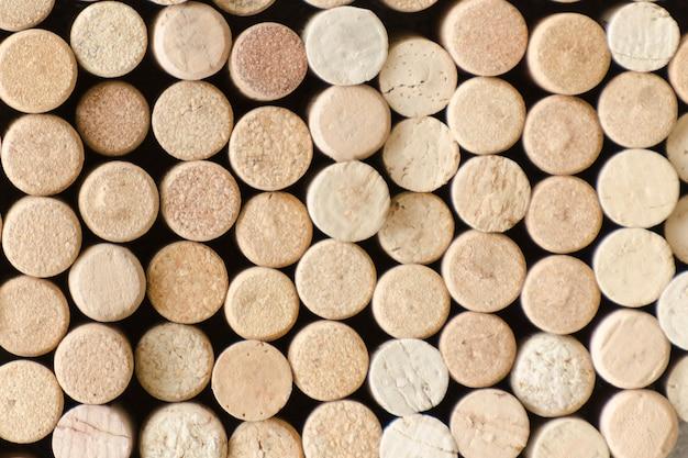 Achtergrond van wijnkurken. detailopname
