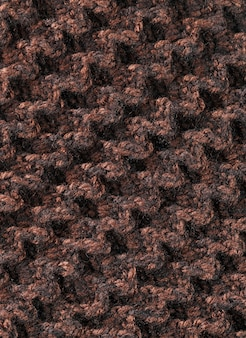 Achtergrond van wollen filamenten van bruine kleur