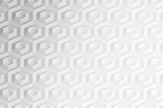 Achtergrond van zeshoeken en cirkels op basis van een zeshoekig raster