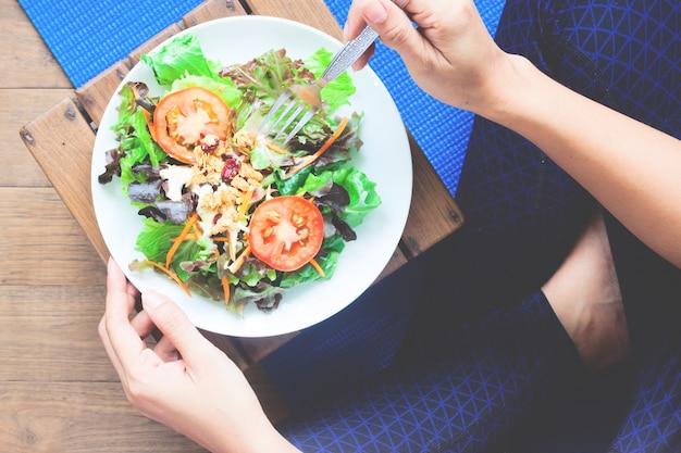 Achtergrond voedsel kom oefeningen maaltijd ruimte