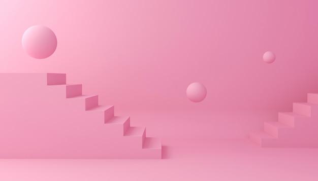 Achtergrond weergeven voor cosmetische productpresentatie. lege showcase, het 3d illustratie teruggeven.