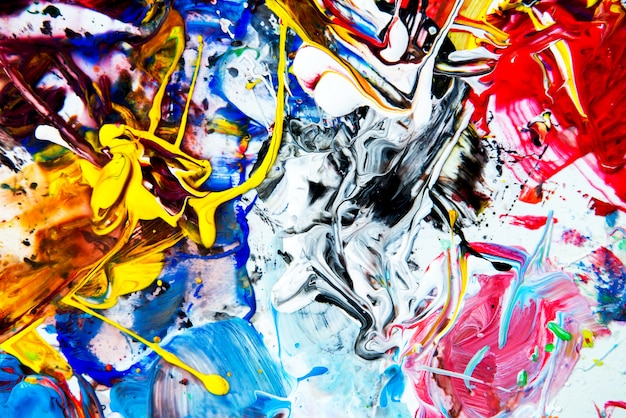 Achtergrondafbeelding van bright aquarel verfpalet