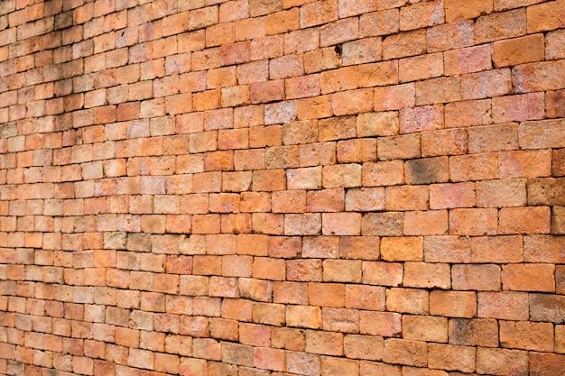 Achtergronden en patroon van oude bakstenen muren oranje.