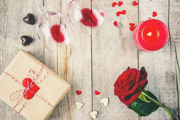 Achtergrondliefde en romantisch. selectieve aandacht. minnaar