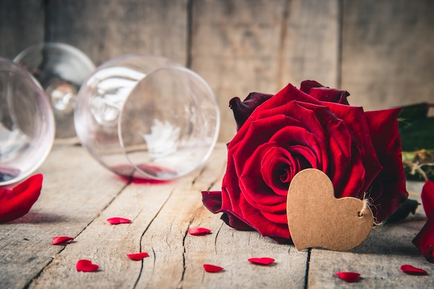 Achtergrondliefde en romantisch. selectieve aandacht.
