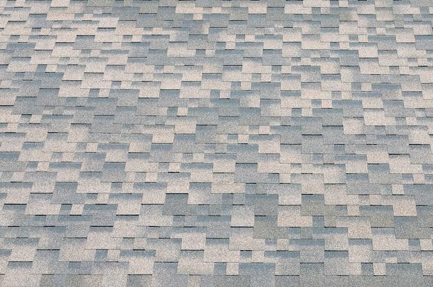 Achtergrondmozaïektextuur van platte dakpannen met bitumineuze coating