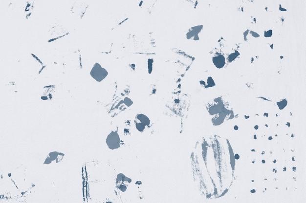 Achtergrondpatroon met blauwe blokprint met stofvlekken