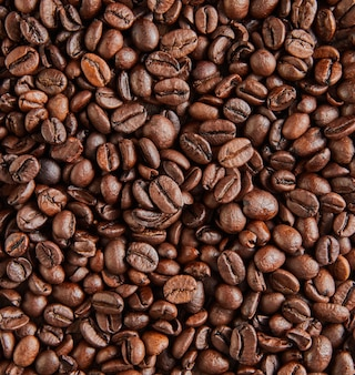 Achtergrondstructuur van korrels van heerlijke italiaanse koffie.