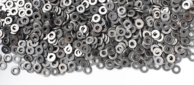 Achtergrondstructuur van metalen moer wasmachine. moer wasmachine gemaakt door staal.