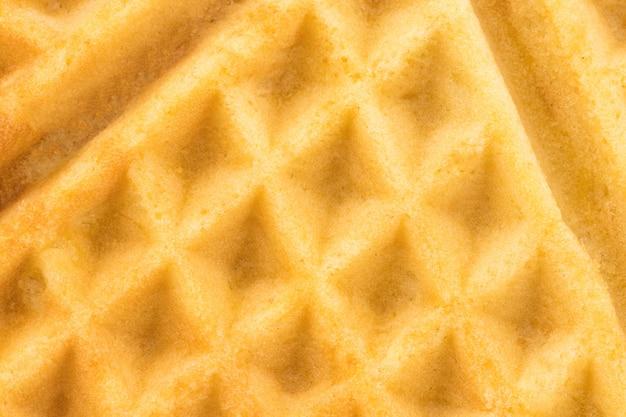 Achtergrondstructuur - vers gebakken belgische wafels, close-up.