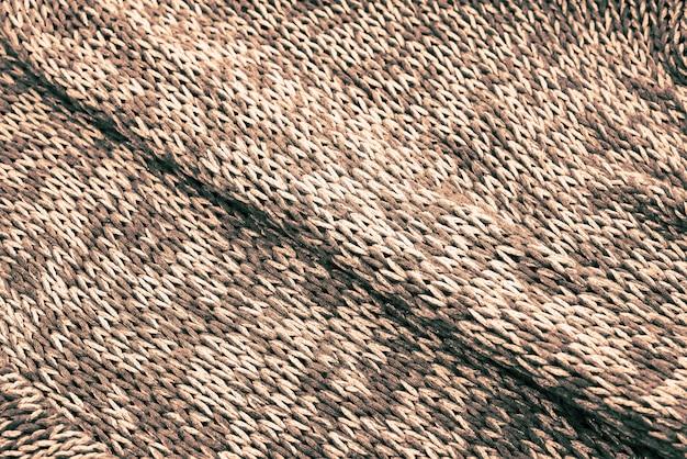 Achtergrondtextuur van gebreid canvas.