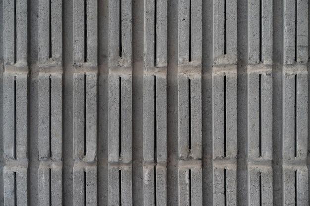 Achtergrondtextuur van lichtgewicht betonblok, grondstof voor industriële of huismuur.