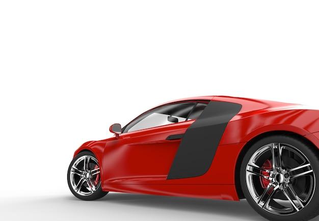 Achterkant van een generieke rode sportwagen