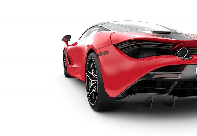 Achterkant van een rode moderne sportwagen
