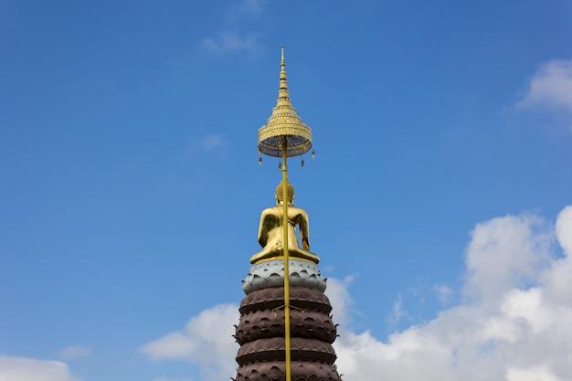 Achterkant van het boeddhabeeld