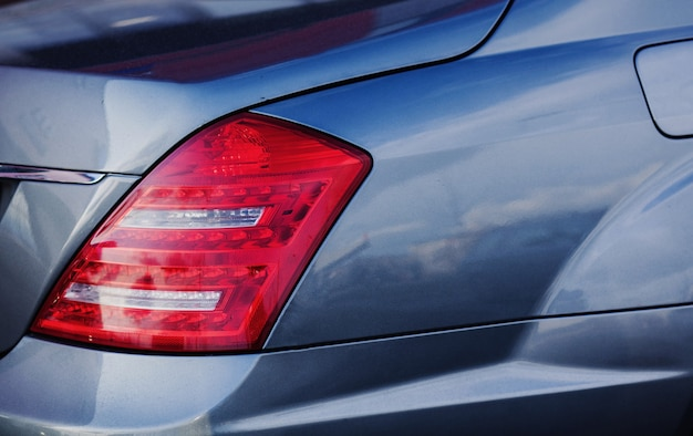 Achterlicht auto. luxe auto premiumklasse