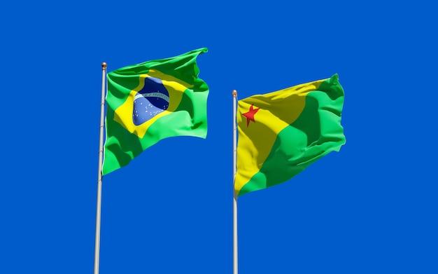 Acre braziliaanse vlag. 3d-illustraties
