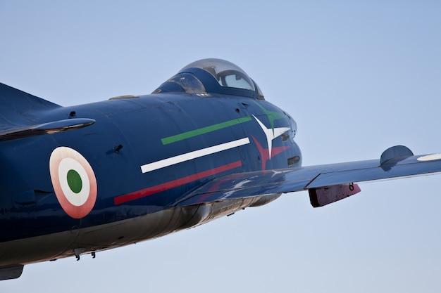 Acrobatisch vliegtuig: frecce tricolori-team, g91 r-model
