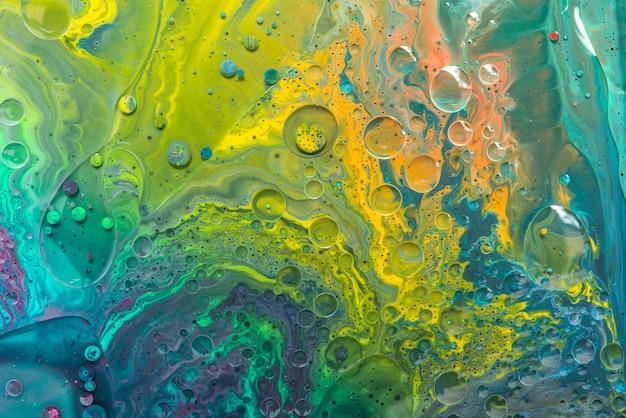 Acryl giet kleur vloeibaar marmer abstracte oppervlakken design.