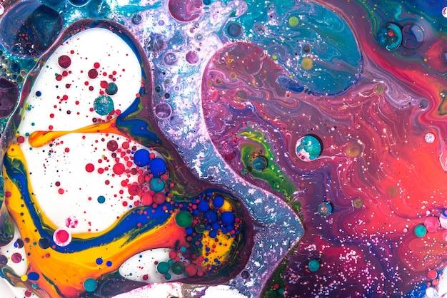 Acryl giet kleur vloeibaar marmer abstracte oppervlakken design