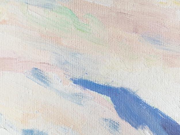 Acryl schilderij met pastel