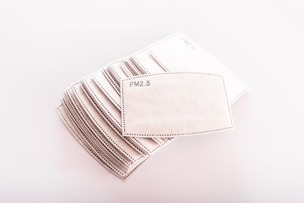 Actief koolstoffilter pm2.5, filterpapier voor herbruikbare stoffen hygiënische gezichtsmaskers.