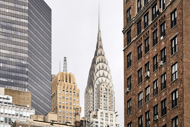 Adembenemende opname van chrysler building in new york, vs.